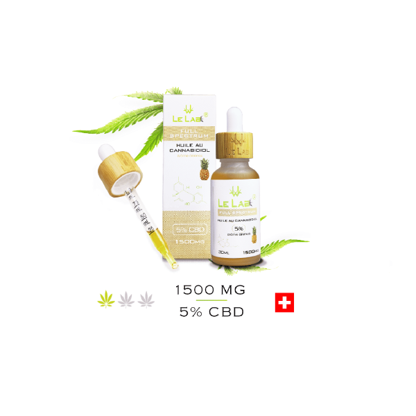 LE LAB SHOP huile CBD 5% 30 ml ananas
