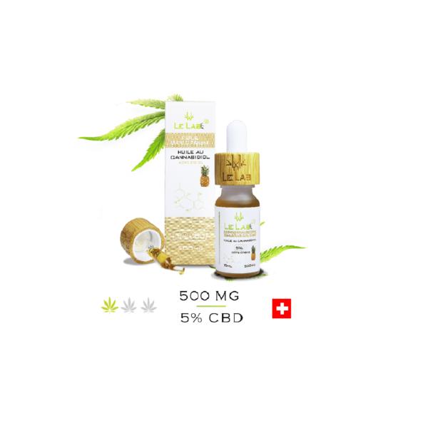 LE LAB SHOP huile CBD 5% 10 ml ananas