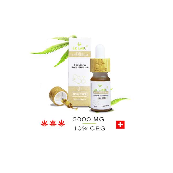 LE LAB SHOP huile CBG 10% 10 ml chanvre