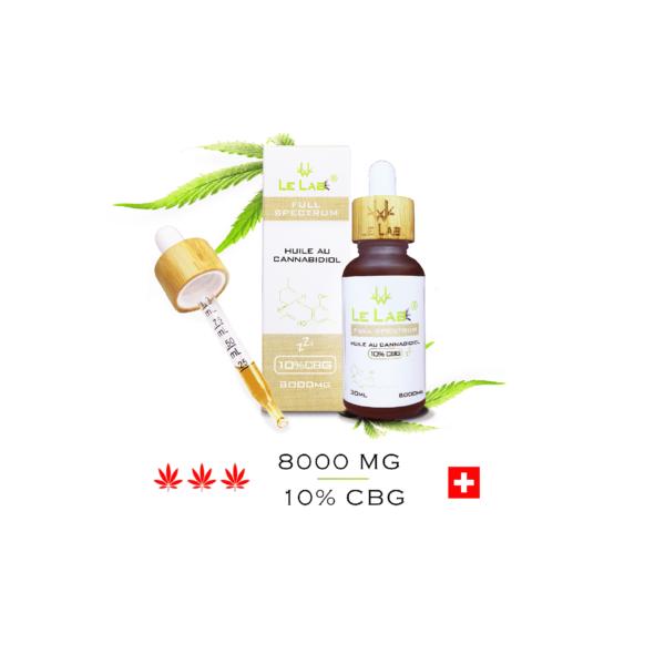 LE LAB SHOP huile CBG 10% 30 ml chanvre