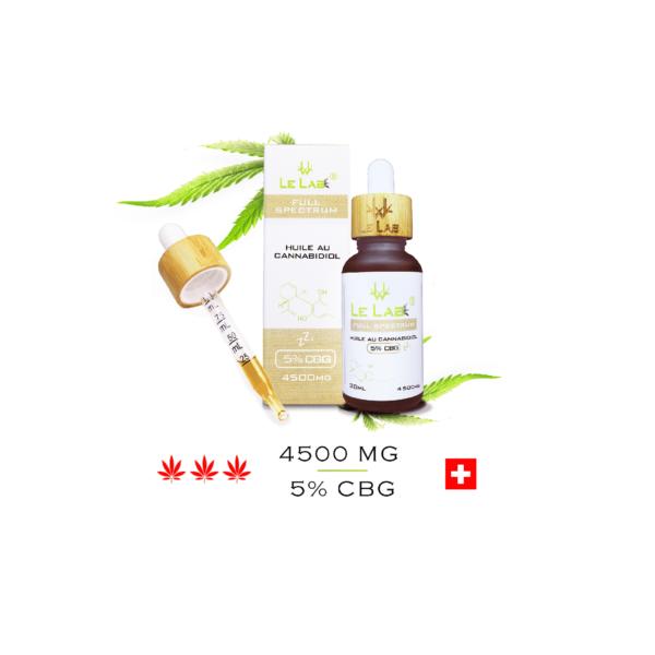 LE LAB SHOP huile CBG 5% 30 ml chanvre