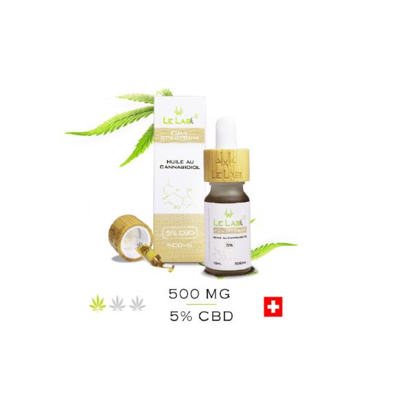 LE LAB SHOP huile CBD 5% 10 ml chanvre