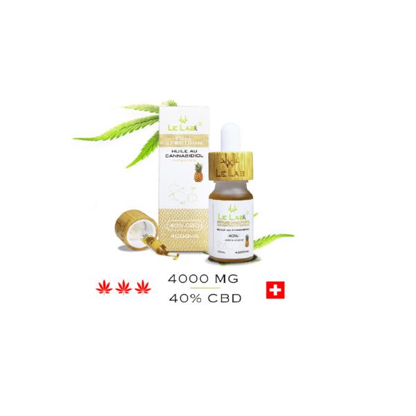 LE LAB SHOP huile CBD 40% 10 ml ananas