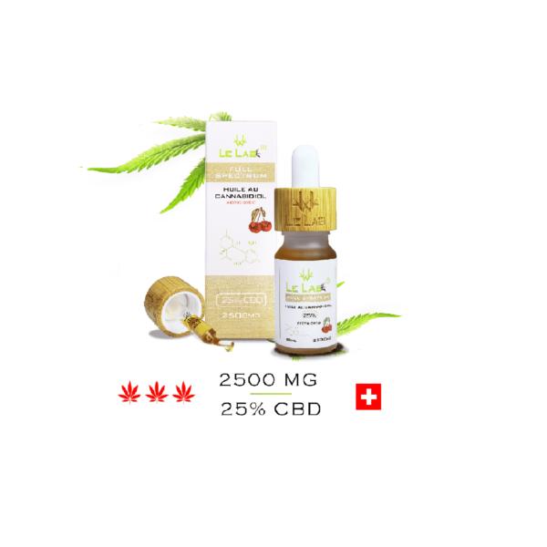 LE LAB SHOP huile CBD 25% 10 ml cerise