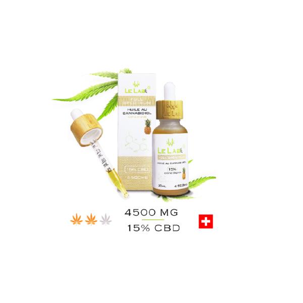 LE LAB SHOP huile CBD 15% 30 ml ananas
