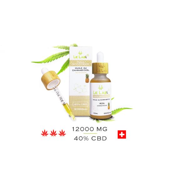 LE LAB SHOP huile CBD 40% 30 ml ananas