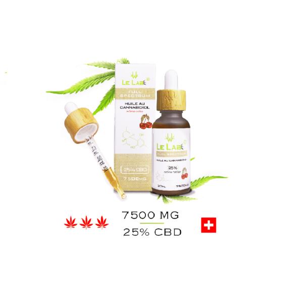 LE LAB SHOP huile CBD 25% 30 ml cerise