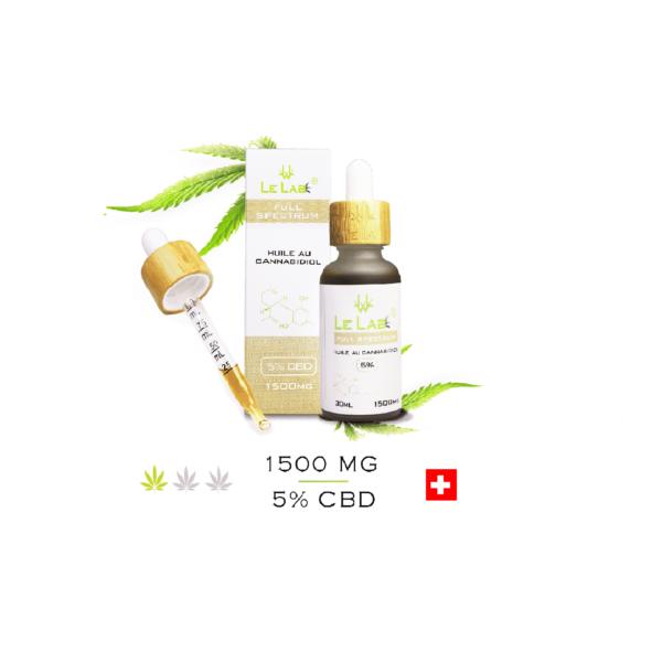 LE LAB SHOP huile CBD 5% 30 ml chanvre